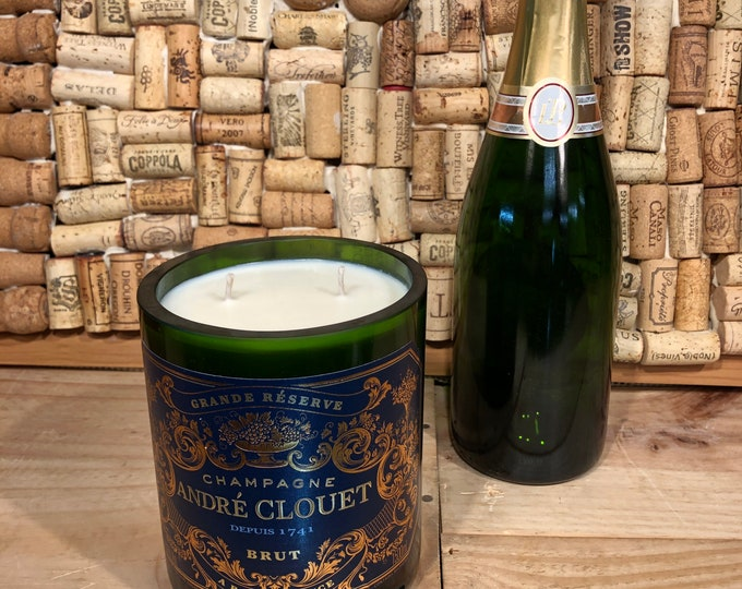 Andre Clouet Magnum Champagne Bottle, Champagne Cocktail Scented Candle