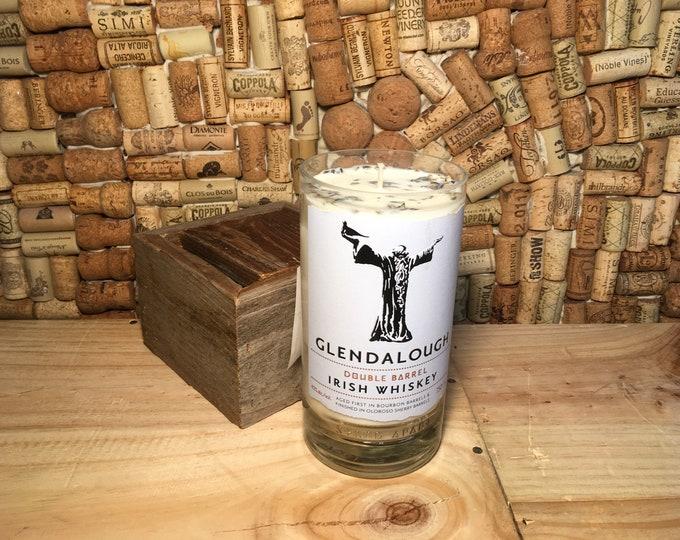 FREE SHIPPING Glendalough Irish Whiskey soy candle, Lavender Eucalyptus scent