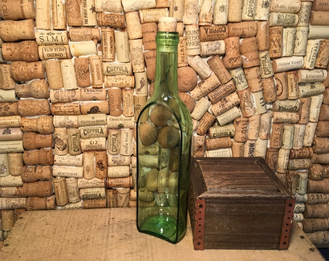 SHIPS FREE! Wedding, Centerpiece, Wine Bottle, Planter, Serving, Dish, Party, Bottle Green