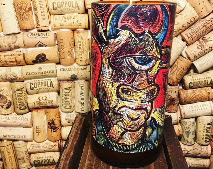 Three Floyds Apocalypse Cow bottle w a Gypsy Spirit Scented Soy Candle