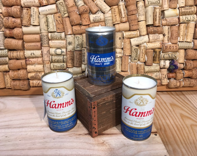 FREE SHIPPING! Vintage Hamm's Beer Can Candle, Choose your scent