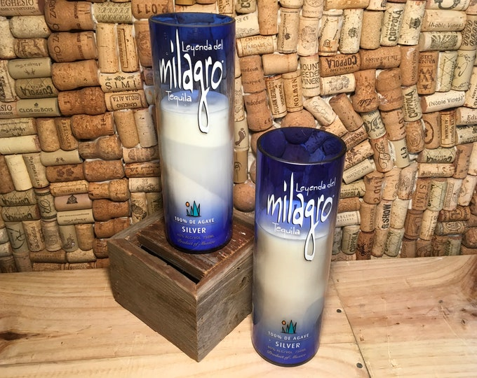FREE SHIPPING! Soy candle in a Milagro Tequila Bottle, choose your scent