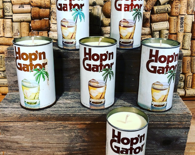 FREE SHIPPPING! Vintage Hop N Gator Beer Can Candle, Fruity Bergamot scent