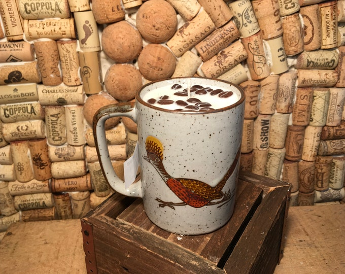 FREE SHIPPING! Vintage Roadrunner and Cactus Mug, Soy Hazelnut Coffee scented candle