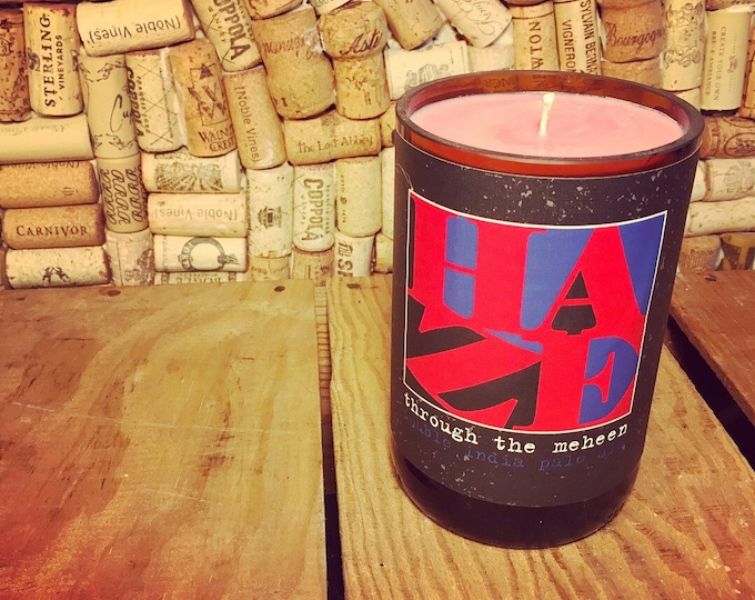 FREE SHIPPING! Mikerphone Haze bottle with a Grapefruit soy candle