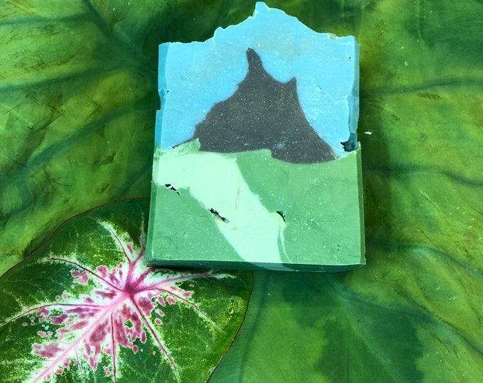 Forest Floor Mountain Soap, Handmade Vegan Cold Process