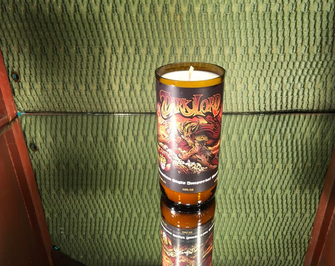 FREE SHIPPING! Three Floyds Dark Lord rare Bottle, Soy Herbal Citrus Scented Candle