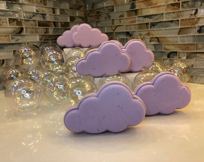 Rainbow Surprise Purple Cloud Bath Bomb, Lavender Scent