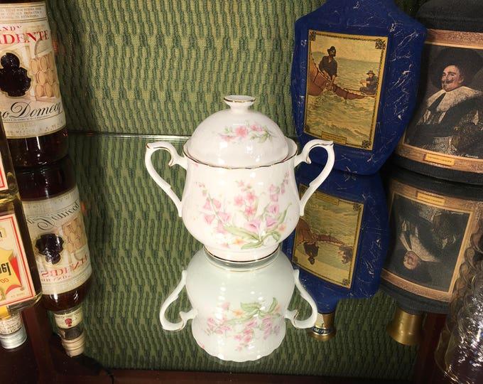 FREE SHIPPING! Royal Albert For All Seasons Parkland Bone China sugar bowl and lid 1984