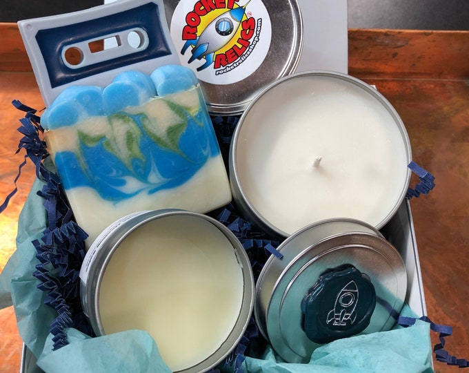 Music Lovers Gift Set, Soap, Candle, Salve
