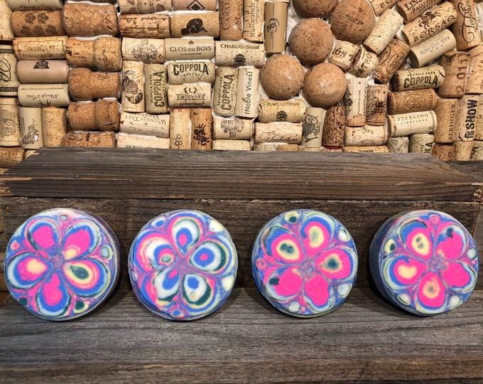 Patchouli Kaleidoscope Soap, Vegan Cold Process, w Turmeric