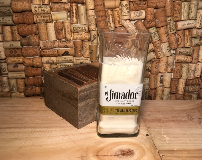 FREE SHIPPING! Grapefruit soy candle in a Jimador Tequila Bottle