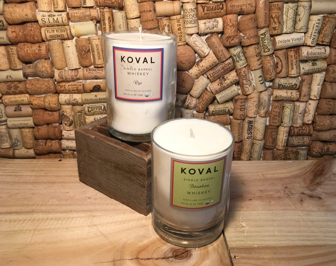 FREE SHIPPING Koval Chicago Whiskey soy candle, choose your scent