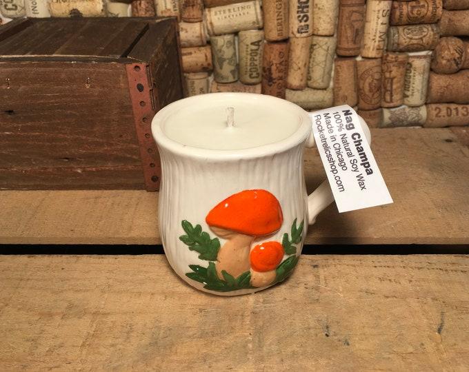 Soy Nag Champa Candle in a Vintage Mushroom mug