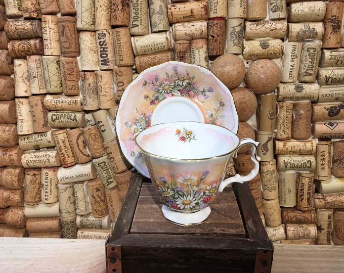 FREE SHIPPING! Vintage Royal Albert Floral  Shakespear's Flowers Russel Mantel tea cup and saucer, bone china, England