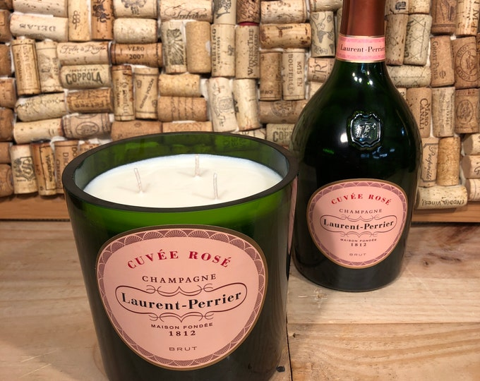 Laurent Perrier Magnum Champagne Cuvée Rosè Bottle, Champagne Cocktail Scented Candle