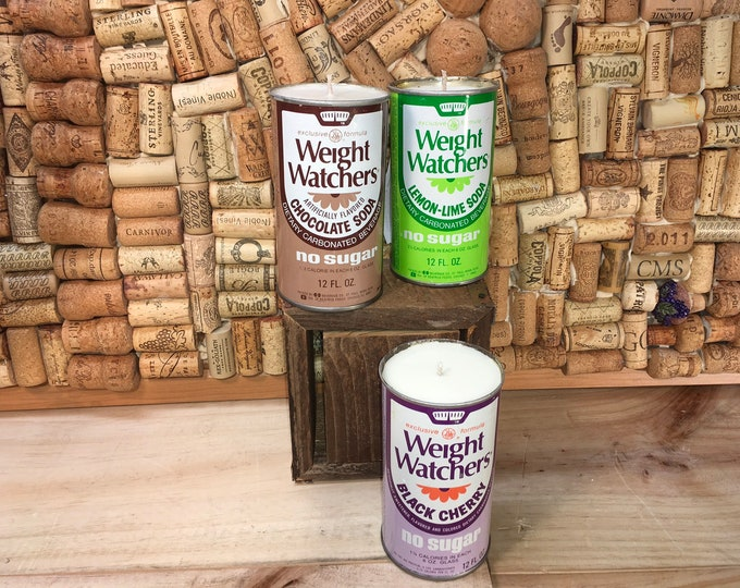 FREE SHIPPING! Vintage Weight Watchers Soda Pop can soy candle, Choose your can