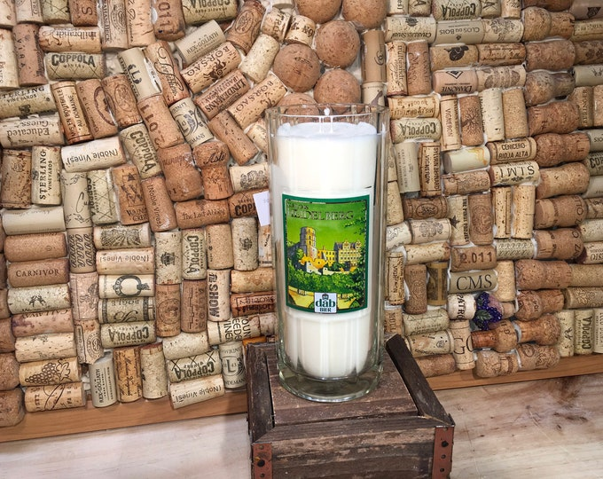 Free Shipping! Vintage Large DAB Heildeberg Beer Stein with a Soy Sweet Basil and Bergamot Candle scent