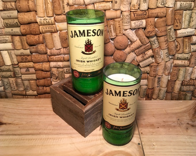 FREE SHIPPING Jameson soy candle, choose your scent! Leather and Hazelnut Coffee