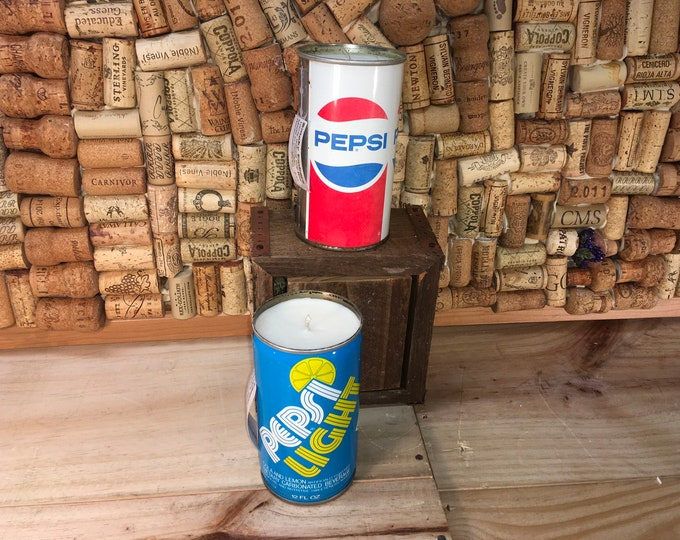 FREE SHIPPING! Vintage Pepsi Soda Pop can soy candle, Choose your can