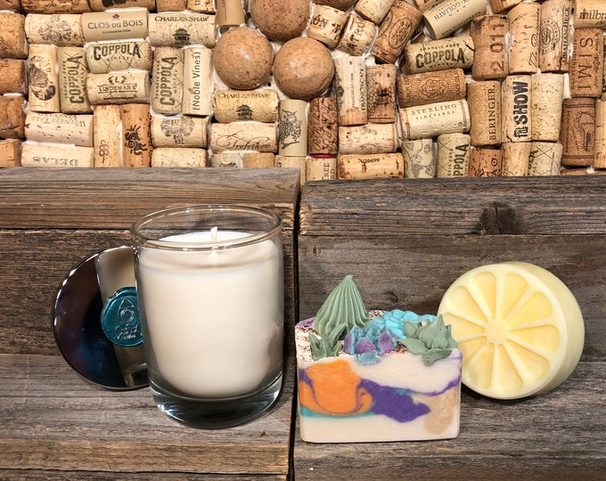 Cactus Lovers Gift Set, Soap, Candle, Lotion Bar
