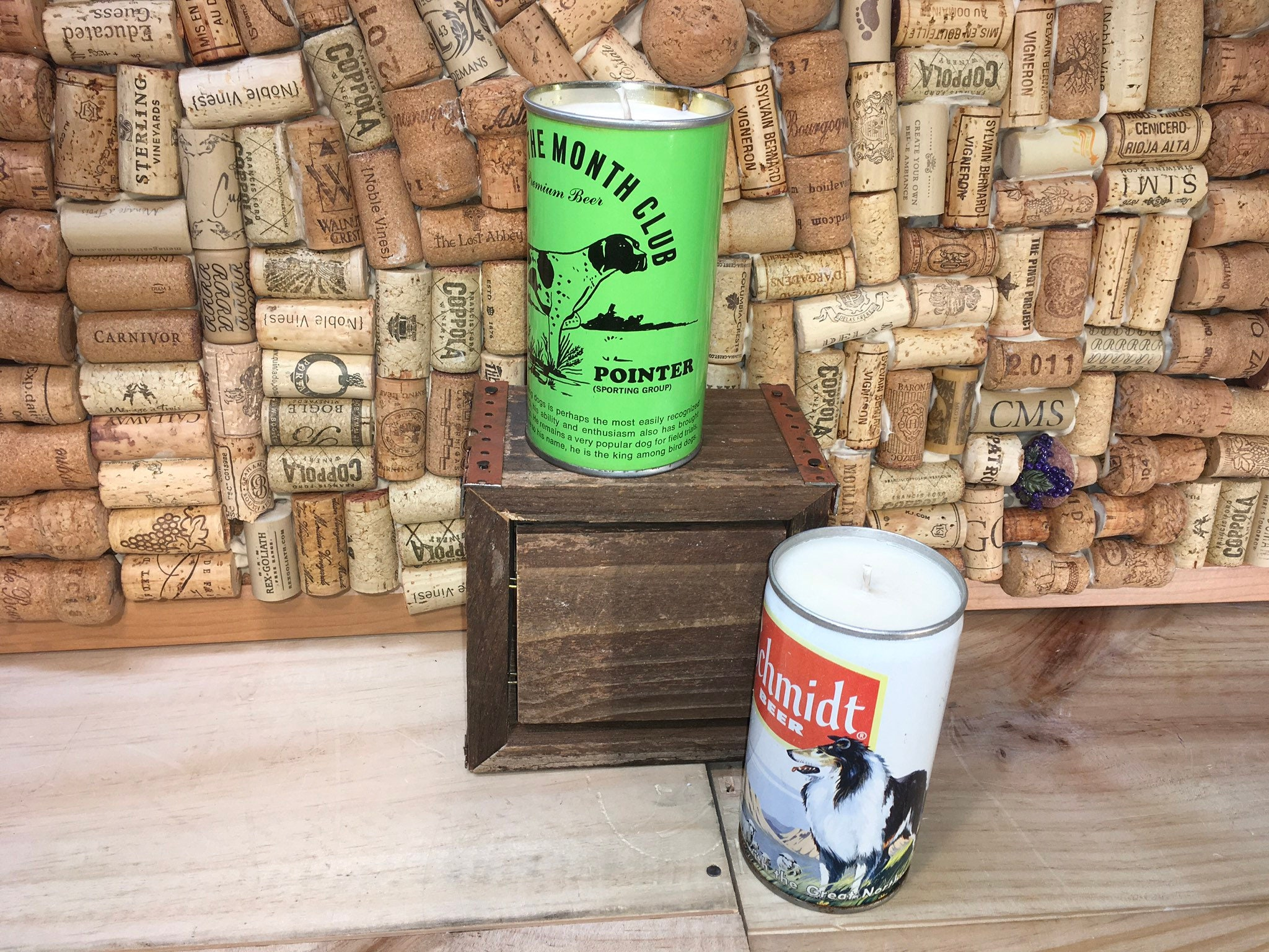 Free Shipping Vintage Dog Beer Can Candle Schmidt Collie Can Etsy