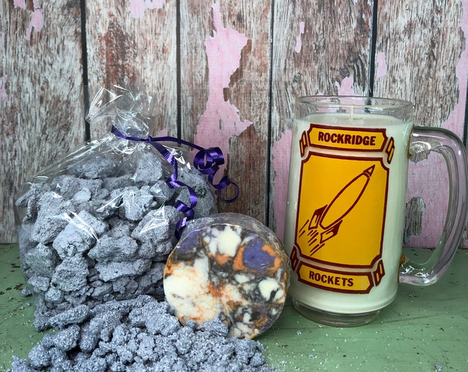 Space Lovers Rocket Gift Set, Soap, Candle, Space Dust