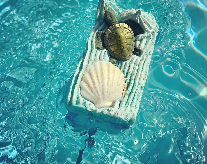 Seaside Holiday Turtle Vegan Soap, Cold Process, free shipping