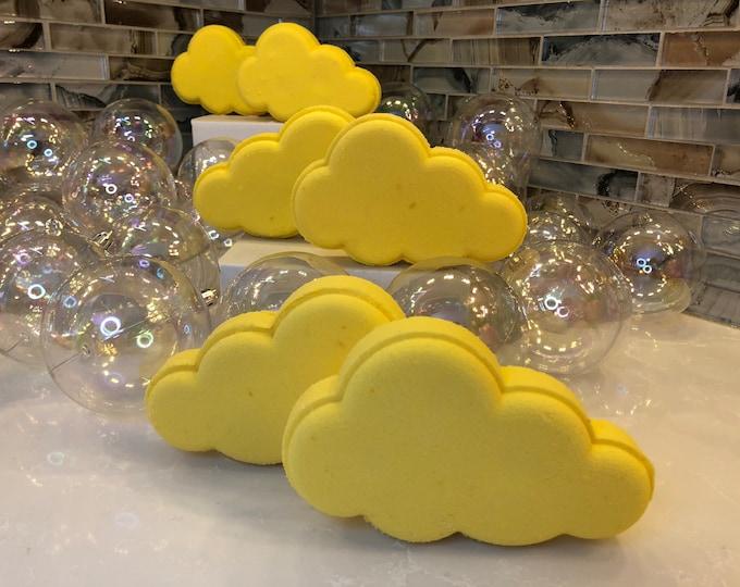 Rainbow Surprise Yellow Cloud Bath Bomb, Lemon Scent