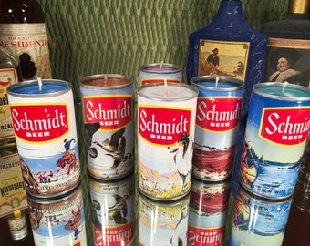 Vintage Schmidt Beer Can Candle, choose one, various scents