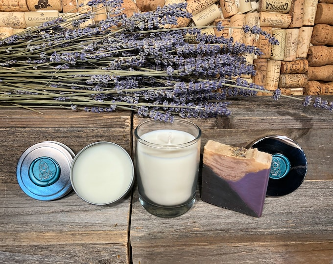 Lavender Lovers Gift Set, Soap, Candle, Salve