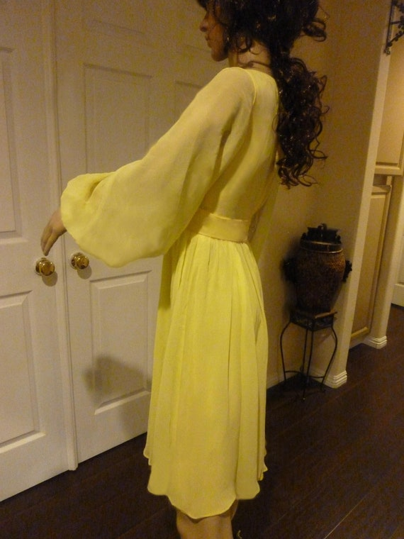 Romantic Vintage 60's Dress with Dramatic Balloon