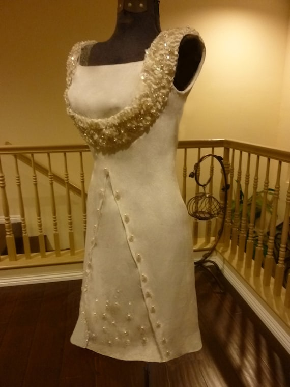 Sweet Boho Vintage Custom Mini 60's Wedding Dress-