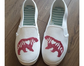 ONEYUAN Children Cute Cartoon Polar Bear on The iceburg Kid Casual Lightweight Sport Shoes Sneakers Walking Athletic Shoes