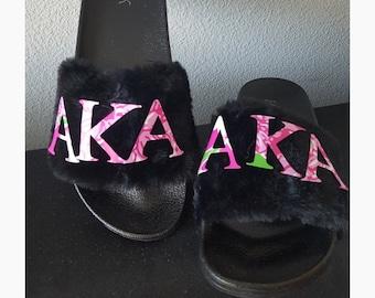 5d6bd59ab Alpha-Kappa-Alph sorority slides slippers AKA slippers