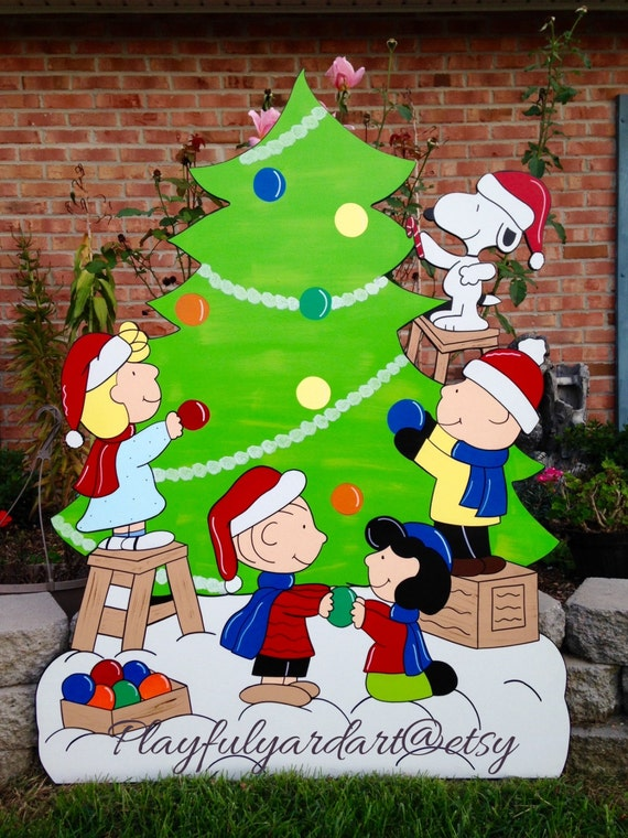 Peanuts Christmas Yard Art Snoopy Christmas Yard Art Peanuts Yard Art Charlie Brown Yard Art Christmas Yard Art