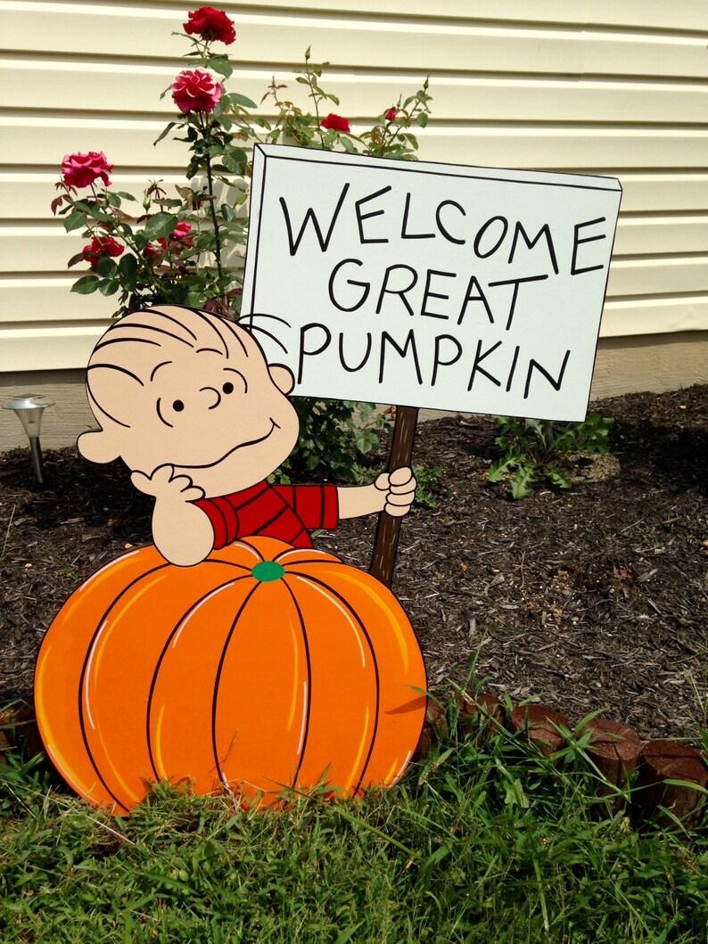 Handmade Great Pumpkin Yard Decor by PlayfulYardArt