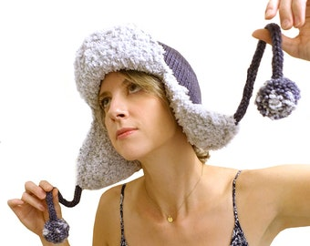 c88ef4c3c3d The Top Down Trapper Hat kniting pattern