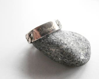 Name Ring - Chain Link Ring - Vintage Silver Ring - Sterling Silver - Pamela