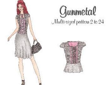 Lolita Patterns Gunmetal