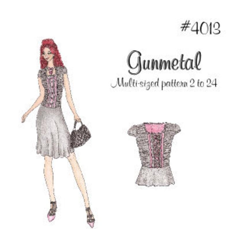 Lolita Patterns Gunmetal image 0