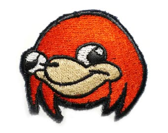Uganda knuckles Meme Sew On Machine Embroidered Patch - Sonic, Knux, Tails - Do U Kno de wey?