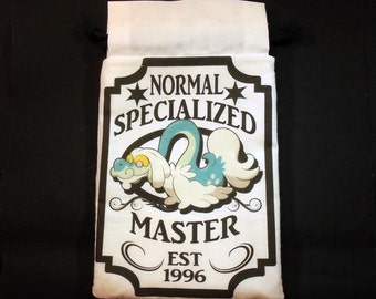 Drampa Pokemon Specialized Master Drawstring bag for dice, Cell phones, Nintendo Ds XL, Dice, cards, or anything!