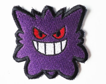 One Gengar Pokemon Sew On Machine Embroidered Patch