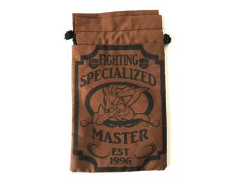 Pick One XL Pokemon Fighting Specialized Master Drawstring bag for dice, Cell phones, Nintendo Ds XL, Dice, cards, or anything!
