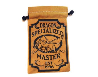 Pick One Pokemon Dragon Specialized Master Drawstring bag for dice, Cell phones, Nintendo Ds XL, Dice, cards, or anything!