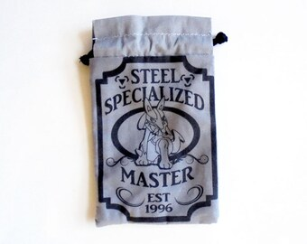 Pick One Pokemon Steel/Metal Specialized Master Drawstring bag for dice, Cell phones, Nintendo Ds XL, Dice, cards, or anything! dialga