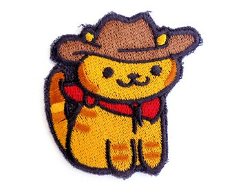 Billy The Kitten Rare cat - Neko Atsume Sew On Machine Embroidered Patch western