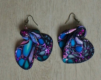 Earrings in polymer clay