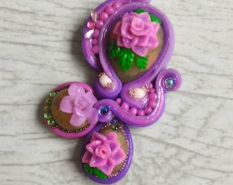 Soutache earrings polymer clay